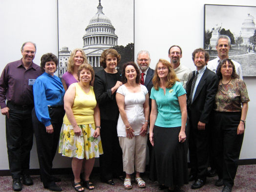 RESULTS partners from California with Senator Feinstein