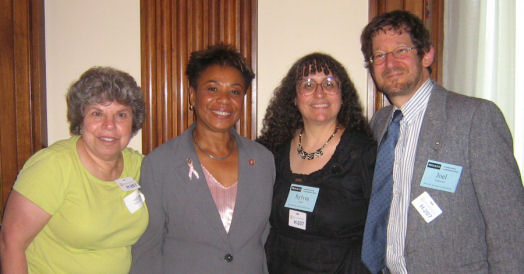 RESULTS partners from California with Rep. Barbara Lee